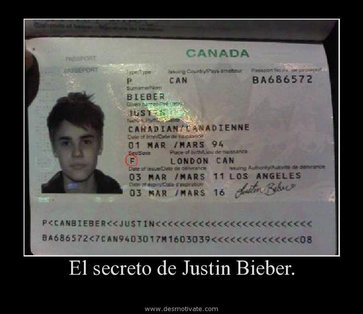 El Secreto De Justin Bieber Desmotivatecom Frases Y