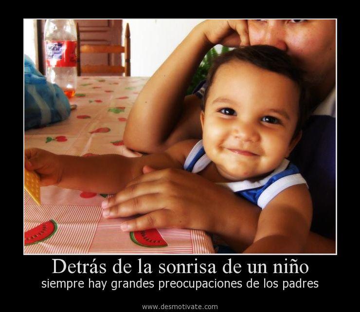 Detrás De La Sonrisa De Un Niño Desmotivatecom Frases Y