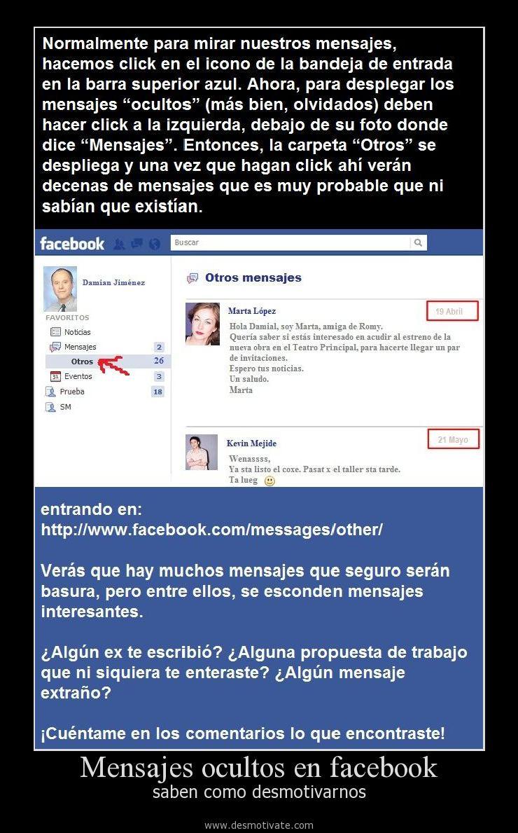 Mensajes Ocultos En Facebook Desmotivatecom Frases Y